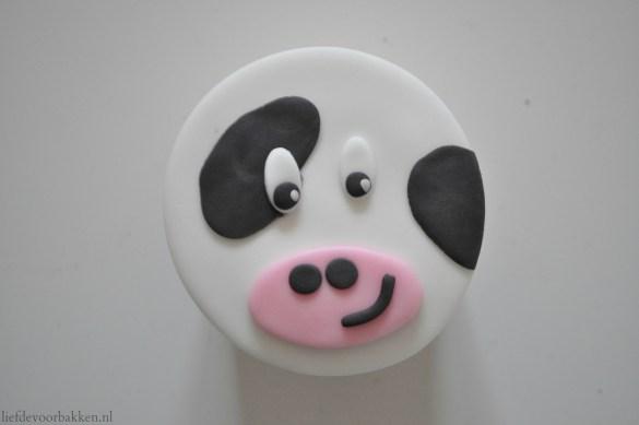 Boerderijcupcakes: de koe, het paard en het schaapje