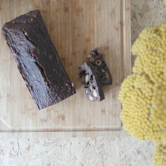 Healthy chocolade bananenbrood met noten