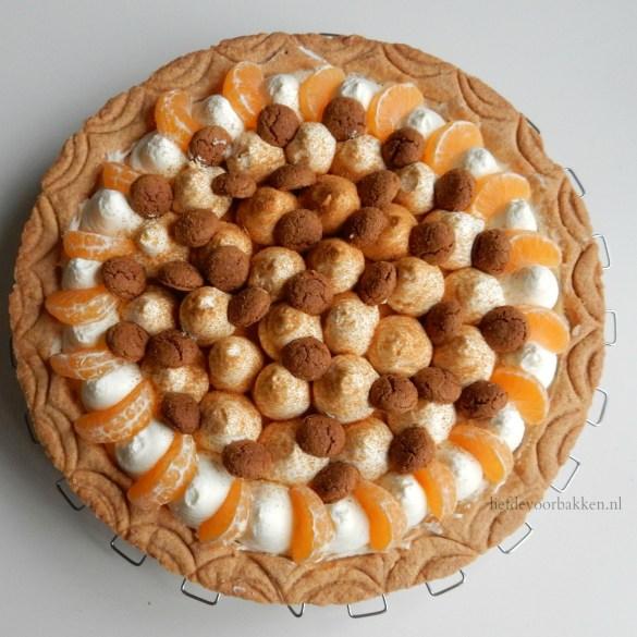 Sinterklaasvlaai met mandarijntjes en pepernoten