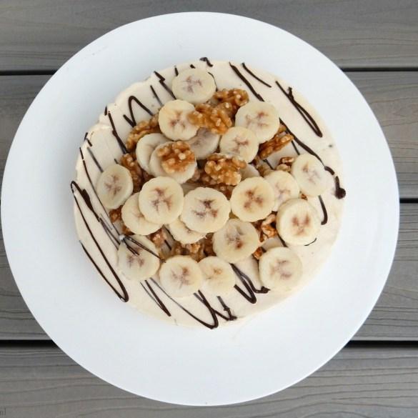 IJstaart met walnoot & banaan