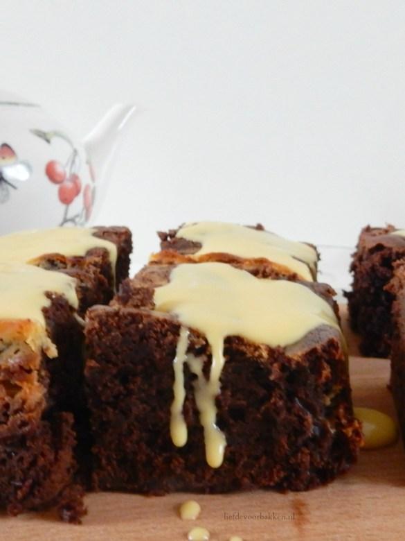 Cheesecake Brownies met Advocaat