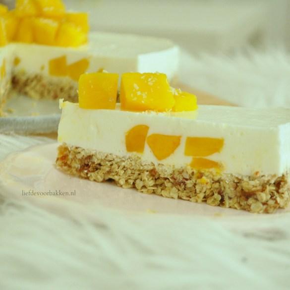 Gezonde mango kwarktaart