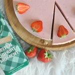 No bake aardbeien yoghurttaart met Betsie's Geitenzuivel