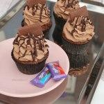 Milka cupcakes met Milka ganache