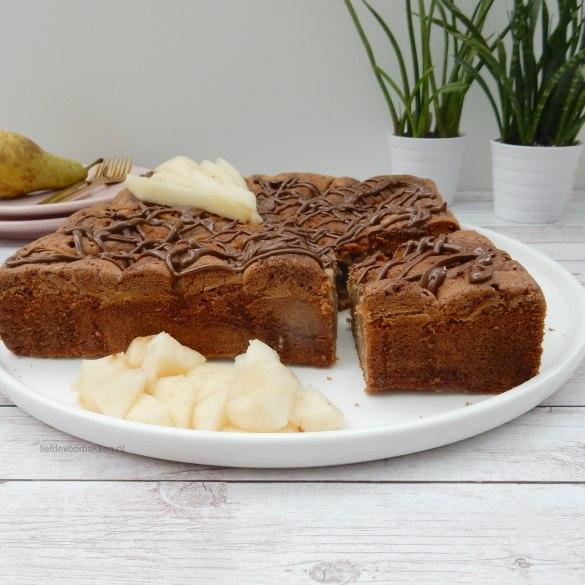Nutella peren cake