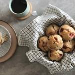 Karnemelk muffins met aardbeien