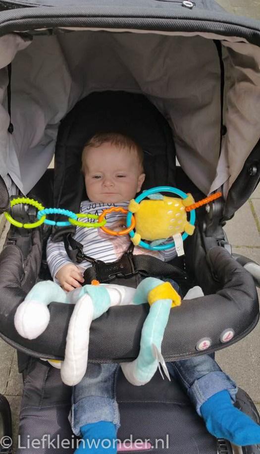 Jayden 24 weken oud buggy inzet