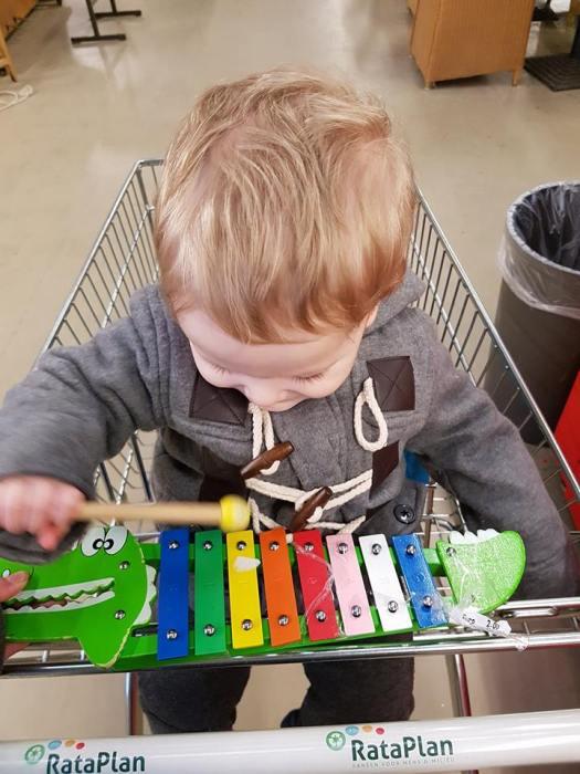 13 maanden oud - Piano spelen baby xylofoon houten speelgoed
