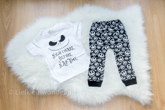 AliExpress babykleding, nigthmare before nap time monochrome