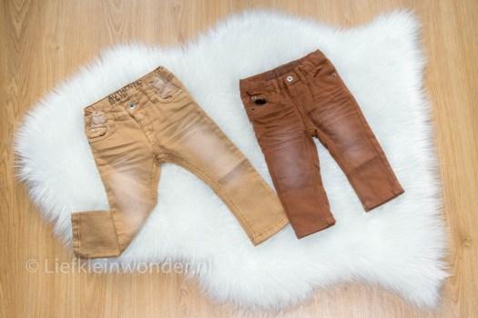 Shoplog: Wibra babykleding bruine broek spijkerbroek