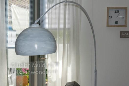 Lamp pimpen booglamp schoolbordverf action touw DIY stoer landerlijk wonen gesso shizal chizal touw