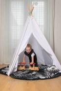 Les Antillaises de ronde handdoek review mamablog zwart wit monochrome