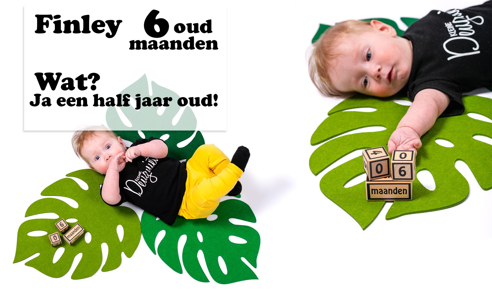 Finley 6 maanden oud ontwikkeling mama blog brandrep sizclothes baby half jaar www.liefkleinwonder.nl rollen van rug naar buik van buik naar rug borstvoeding zitten broers