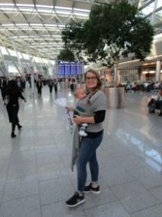 Dragen op het vliegveld