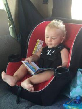 Autostoel van Target en boekjes; groot succes