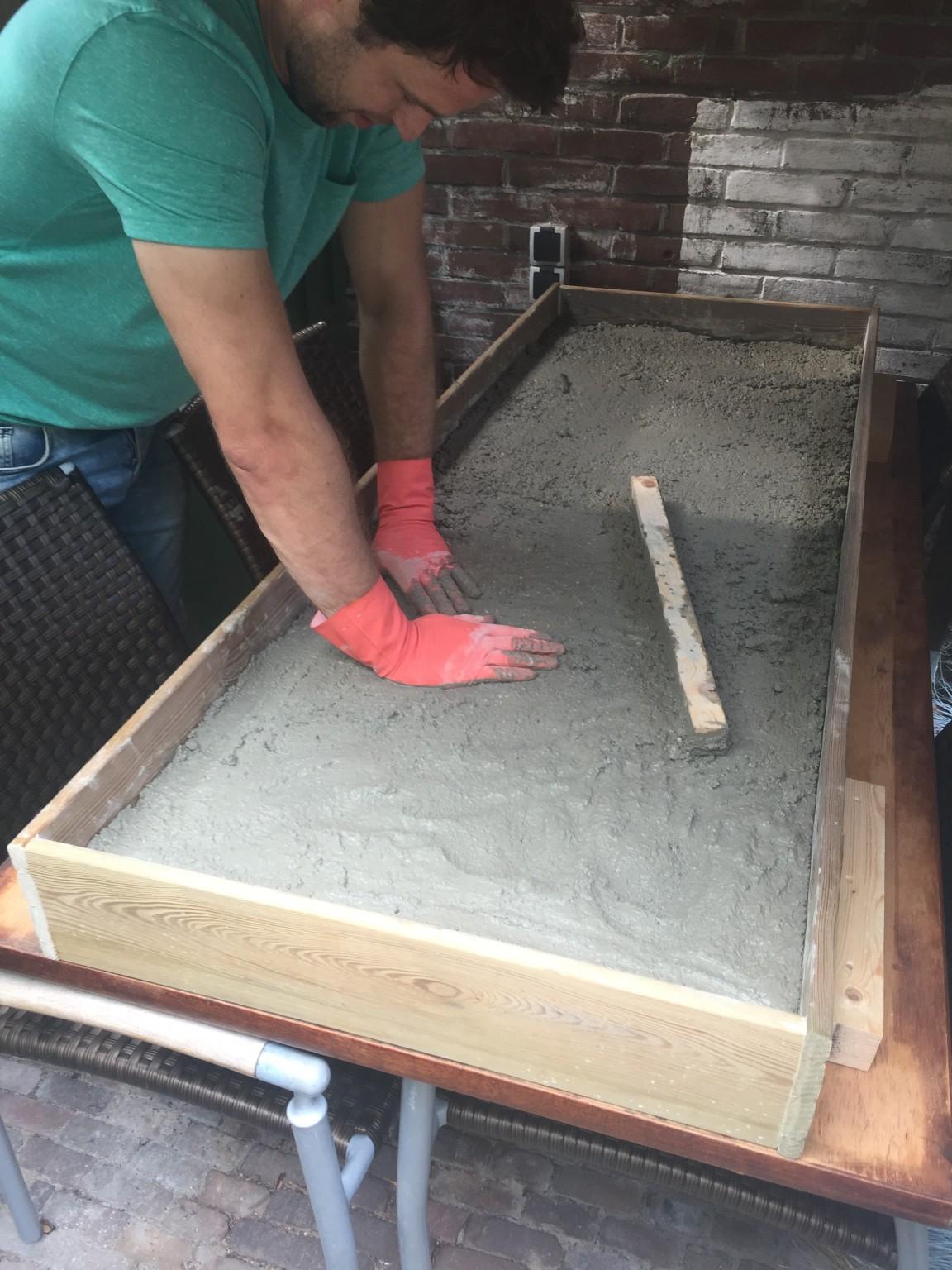 Vaak How to: Betonnen tuintafel maken...met fotobeschrijving - DIY JQ13