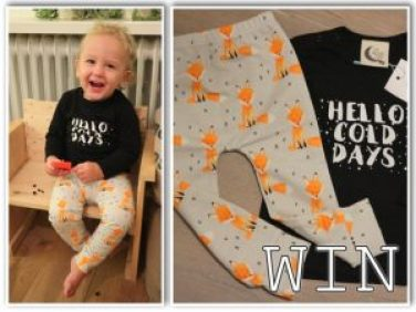Kleine spruit in zijn awesome outfit