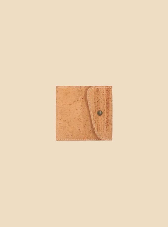 Portefeuille en liège modèle Aurae vue face couleur naturel