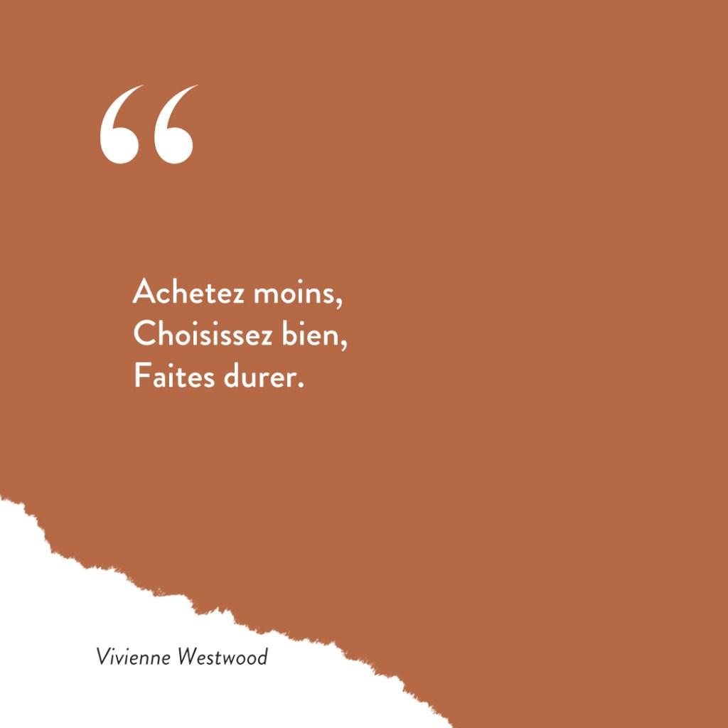exemple publication Instagram citation inspirationelle de Vivienne Westwood