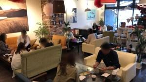 2019/6/9静岡市のカフェ1LDKでの婚活パーティーの様子1
