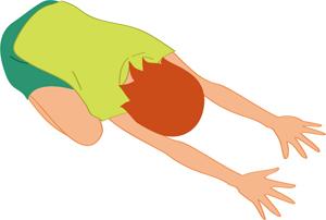 ヨガ,背中,痛み,腰痛,子供のポーズ