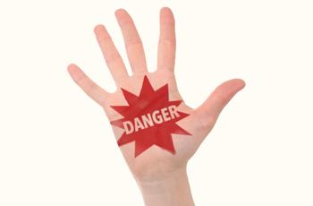危険 注意 DANGER