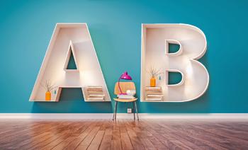アルファベット型の棚