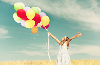風船を持った少女