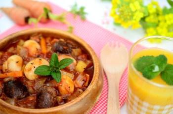 トマト豆スープ