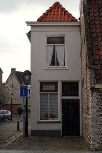 Een smal huisje in Bergen op Zoom