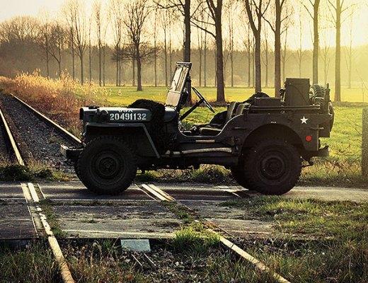 Een Willys jeep op het Duitse lijntje