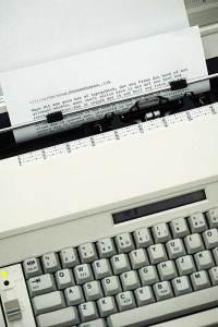 Retro typemachine inclusief met regeleindes en correctielint