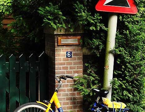 Glooiing het is prachtig maar op een ov-fiets niets dan fietsleed