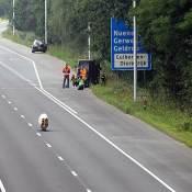 De Velox7 op de snelweg bij Helmond