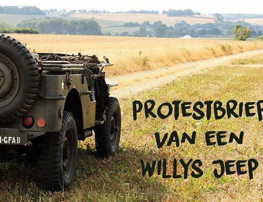 Protestbrief van een Willys Jeep