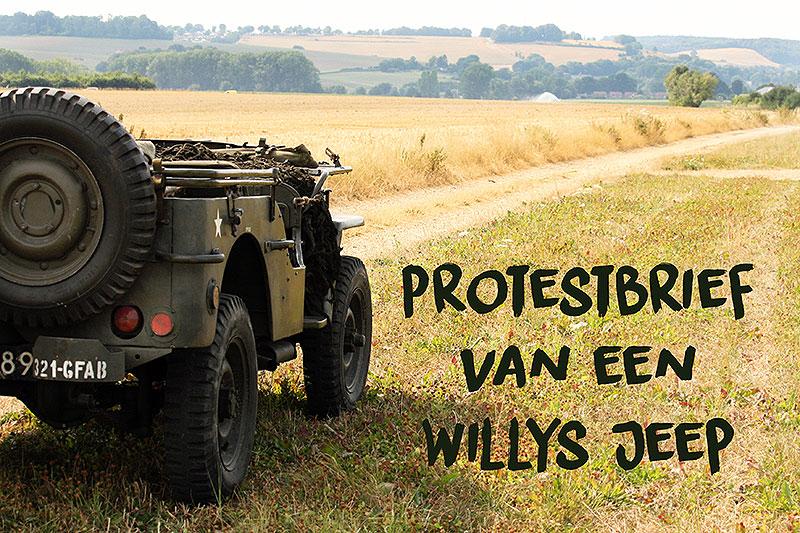 Protestbrief van een Willys Jeep