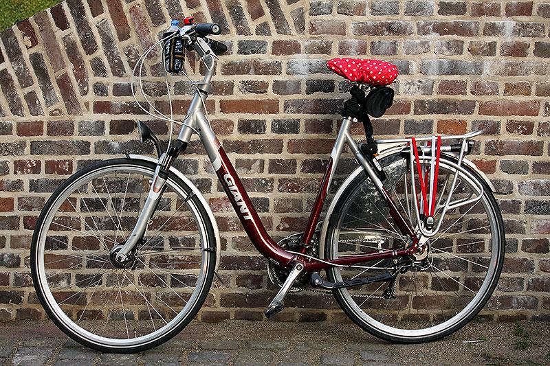 Mijn nieuwe fiets aangekleed