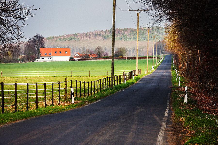 De wegen zijn leeg