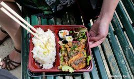 Bento with mackerel