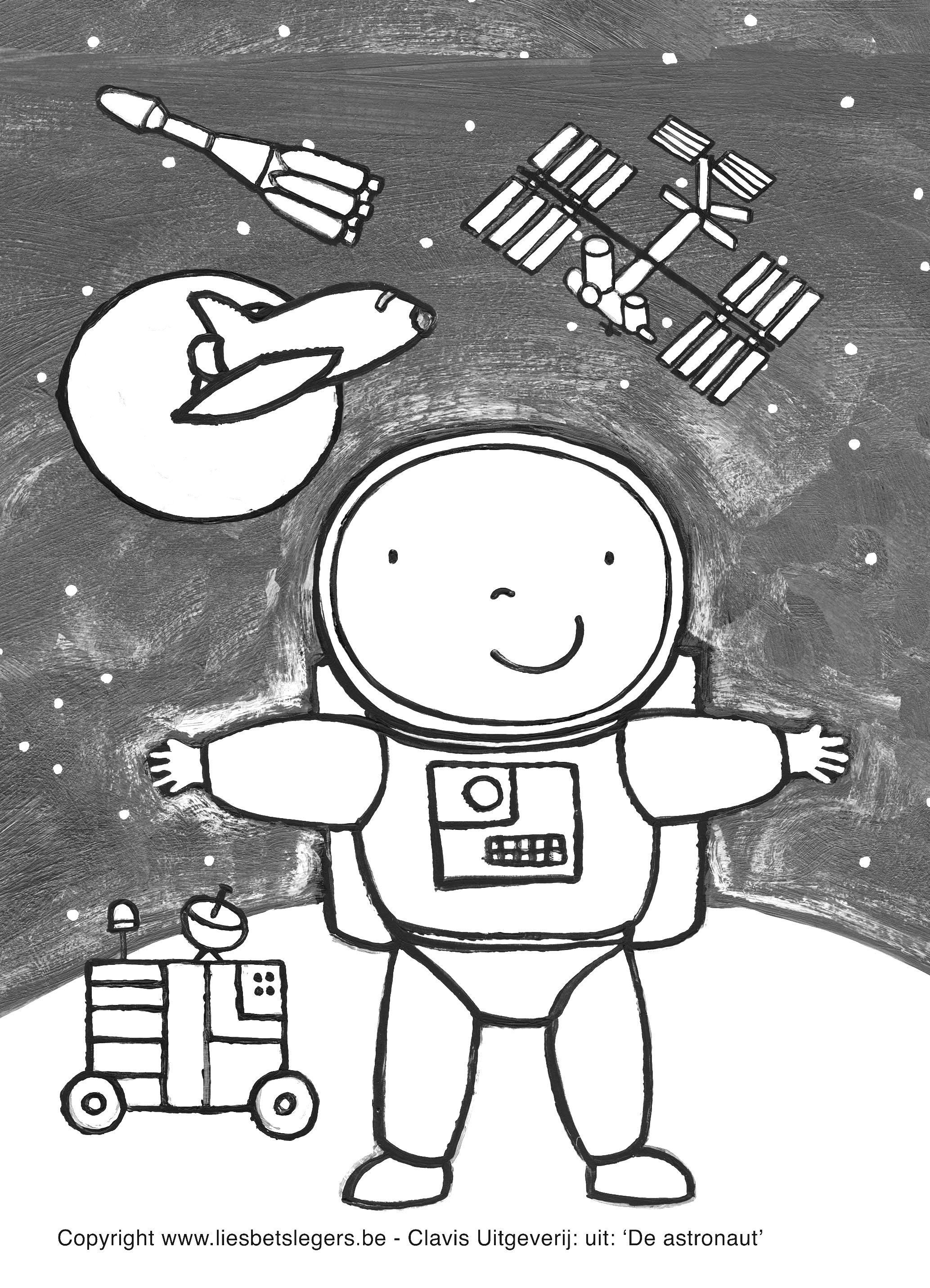 Astronaut Preschool Skill Worksheets