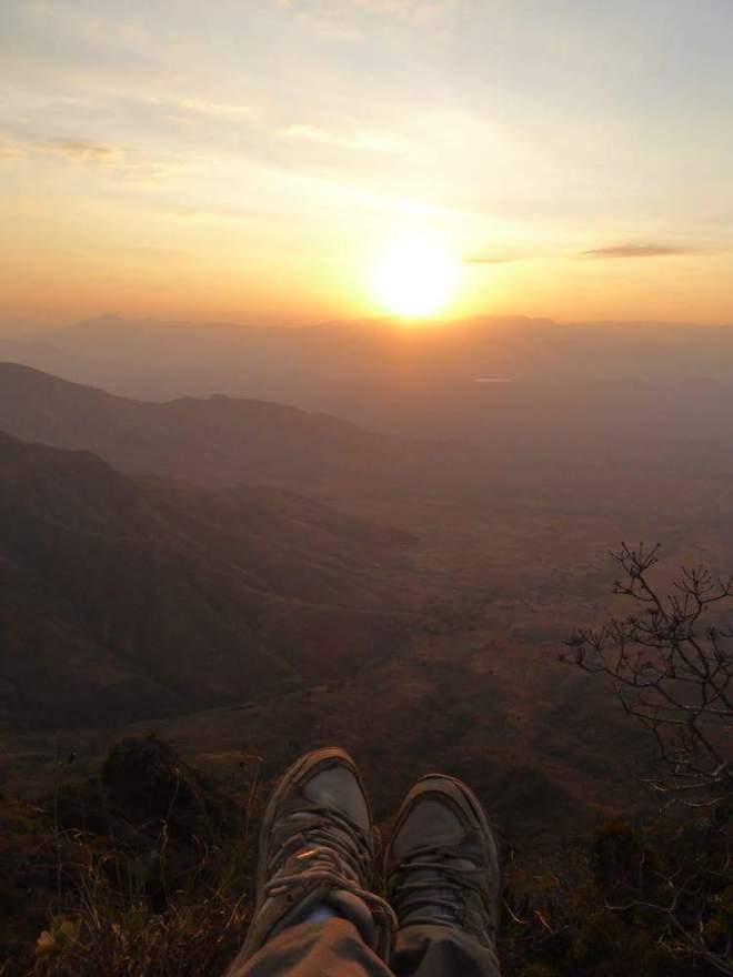 Blick in die Berge des Usambara Gebirges in Tansania