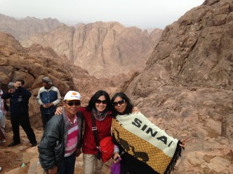 at the top of Sinai mt