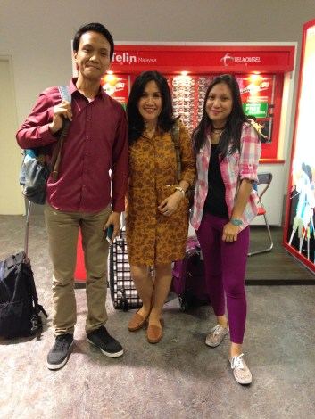 3 of us just arrived KLIA2
