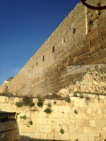 the western wall from outside