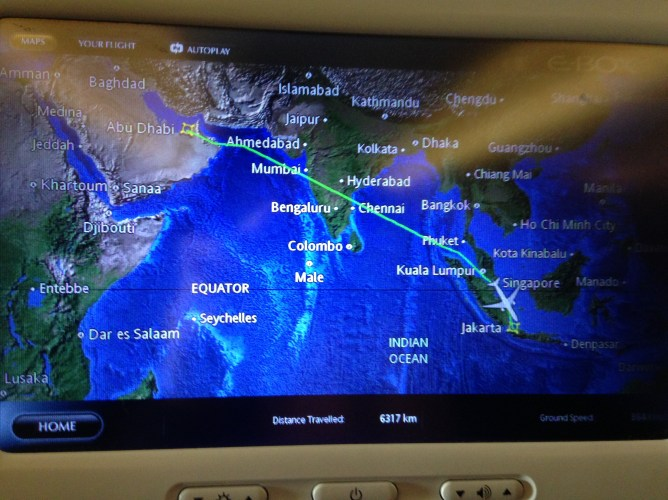 the flight route