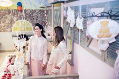 Dizainerę Evą Mankus nuo darbingų savaitgalių išvadavo dukrelės sutiktuvių šventė