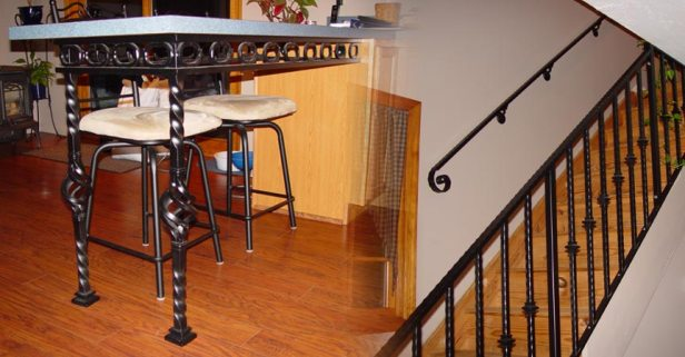 Dining-Interior-Wrought-Iron-Railings