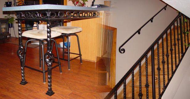 Dining-Interior-Wrought-Iron-Railings