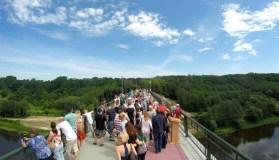 Alytuje atidarytas aukščiausias Lietuvoje pėsčiųjų ir dviratininkų tiltas