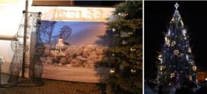 Per miesto gimtadienį Telšiuose įžiebta Kalėdų eglė